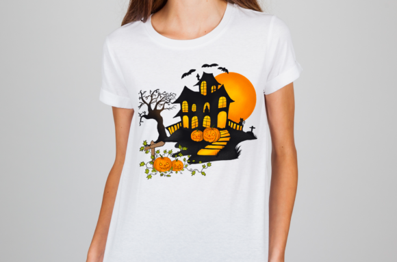 Halloween Pumpkins House Graphic Item