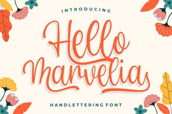 Print on Demand: Hello Marvelia Script & Handwritten Font By goodjavastudio