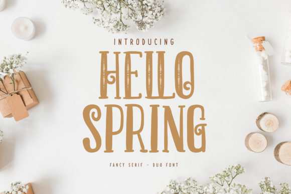 Print on Demand: Hello Spring Serif Fuente Por Vunira