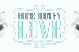 Print on Demand: Home Idotry Love Display Font By Situjuh