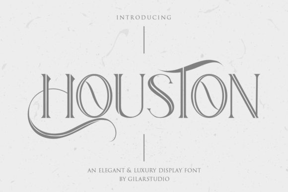 Print on Demand: Houston Serif Schriftarten von Gilar Studio