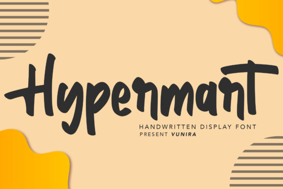 Print on Demand: Hypermart Script & Handwritten Font By Vunira