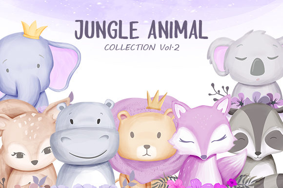 Jungle Animal Vol.2 Graphic Illustrations By alolieli