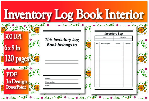 Print on Demand: KDP Inventory Log Book Interior Graphic KDP Interiors By Ivana Prue
