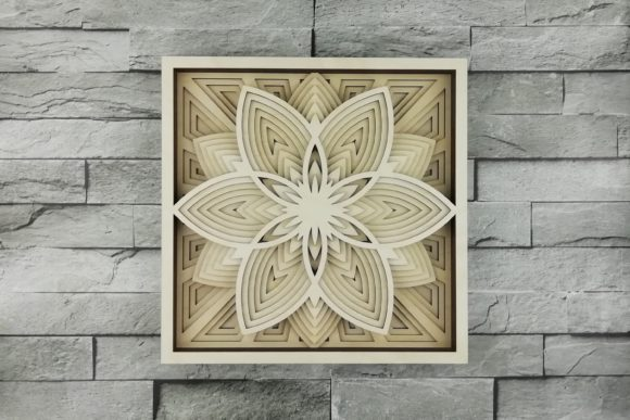 Print on Demand: Layered Mandala, Cut File, 3D Flower Graphic Product Mockups By vectormarket