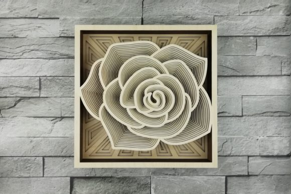 Print on Demand: Layered Mandala, Cut File, 3D Rose Graphic Product Mockups By vectormarket
