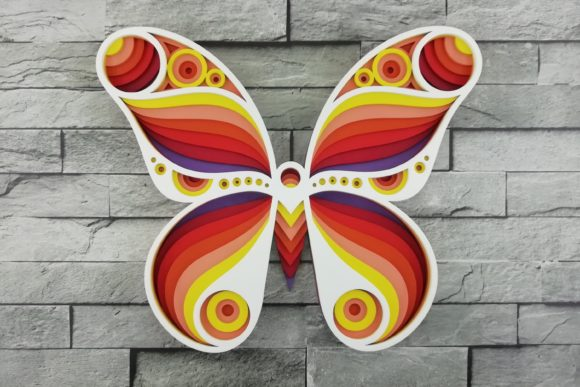 Print on Demand: Layered Mandala, Cut File, Butterfly Graphic Product Mockups By vectormarket