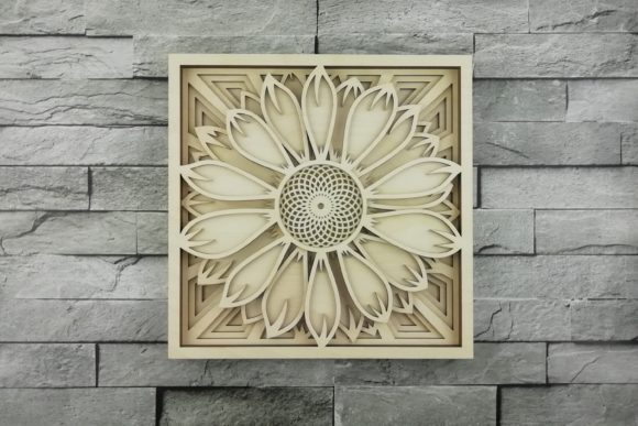 Print on Demand: Layered Mandala, Cut File, Sunflower Graphic Product Mockups By vectormarket