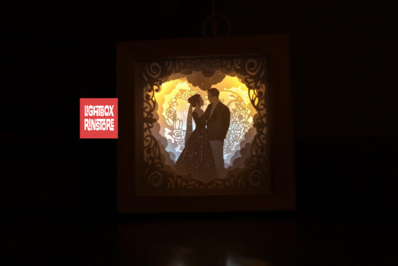 Love You so Much 3D Paper Cut Light Box Graphic 3D Shadow Box By lightbox.rinstore - Image 1