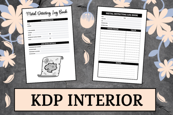 Print on Demand: Metal Detecting Log Book | KDP Interior Graphic KDP Interiors By KDP Mastermind