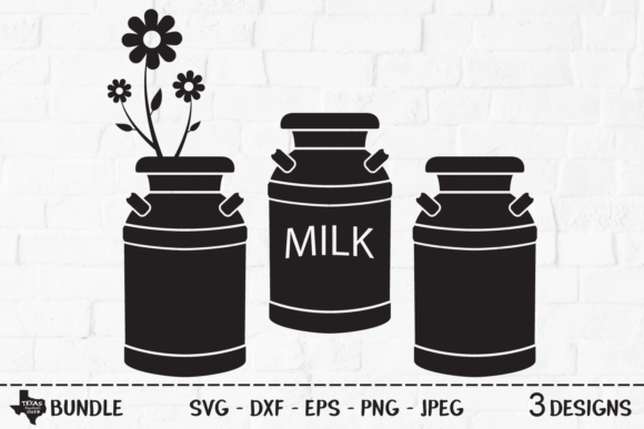 Print on Demand: Milk Can Bundle - Country Farm Designs Graphic Crafts By texassoutherncuts