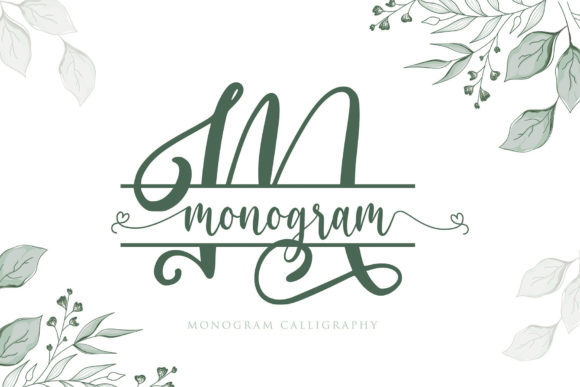 Print on Demand: Monogram Decorative Font By Sigit Dwipa