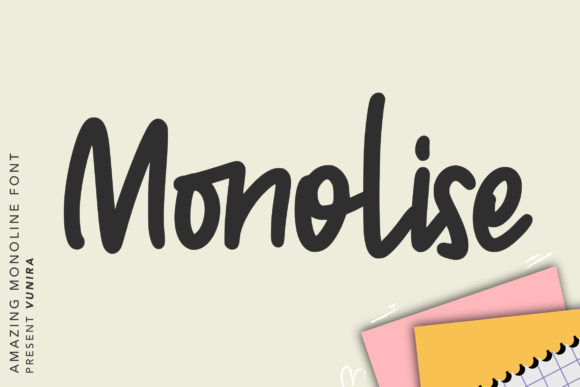Print on Demand: Monolise Script & Handwritten Font By Vunira
