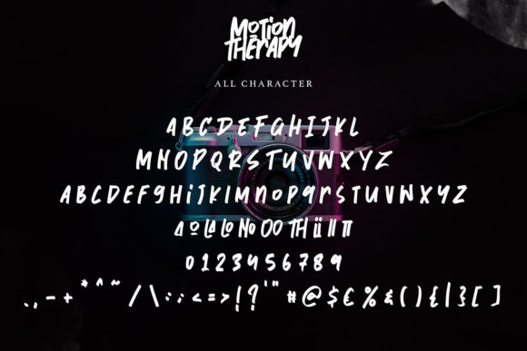 Motion Therapy Font Preview