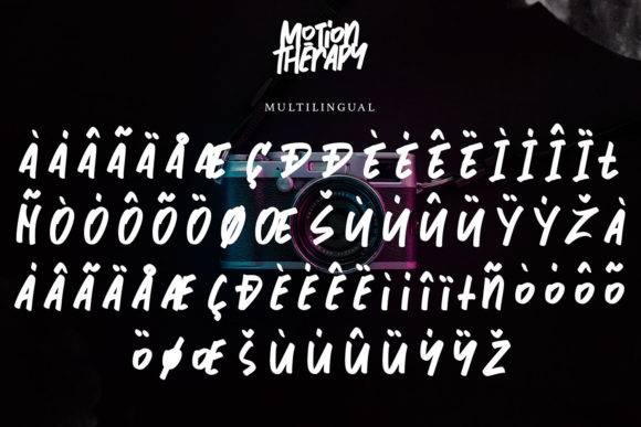 Motion Therapy Font Image