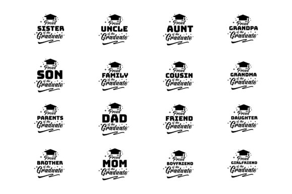 Proud of Family Graduate Bundle Design Graphic Crafts By FauzIDEA
