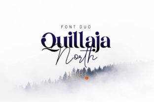 Print on Demand: Quillaja North Display Font By Moreltype