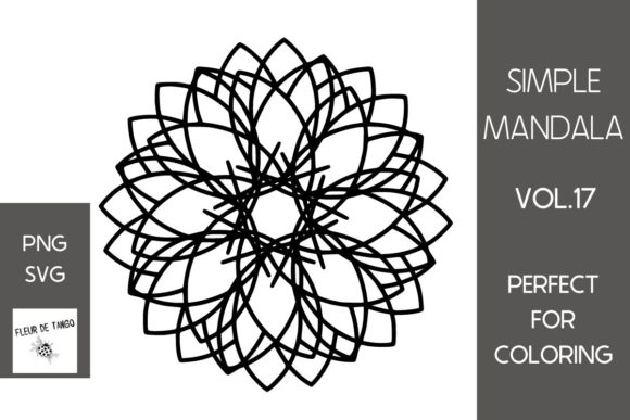 Print on Demand: Simple Mandala Vol.17 Graphic Print Templates By Fleur de Tango