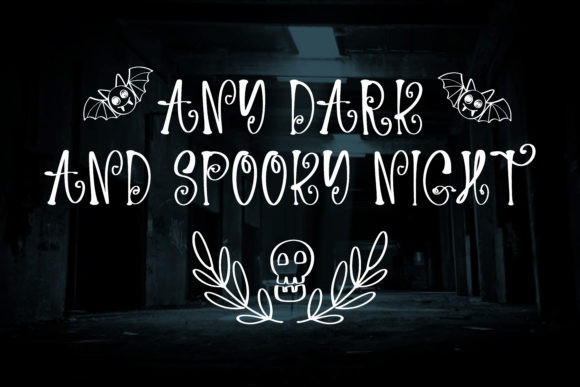 Spooky Night Font Design