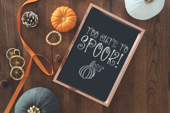 Spooky Night Font Design Item
