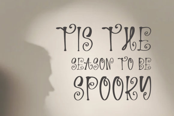 Spooky Night Font Downloadable Digital File