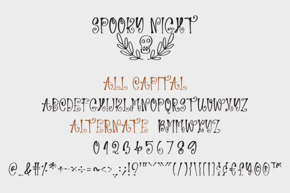 Spooky Night Font Popular Design