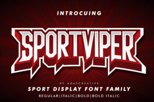 Print on Demand: Sport Viper Display Font By AbasCreative