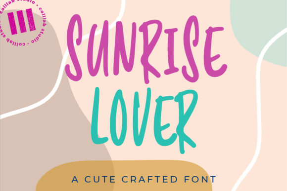 Print on Demand: Sunrise Lover Display Font By colllabstudio