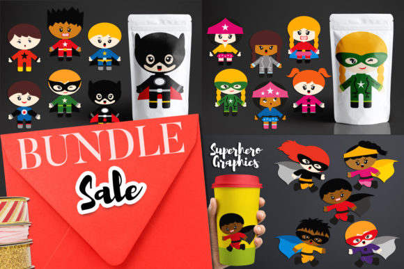 Print on Demand: Superhero Emotion Bundle Gráfico Ilustraciones Por Revidevi