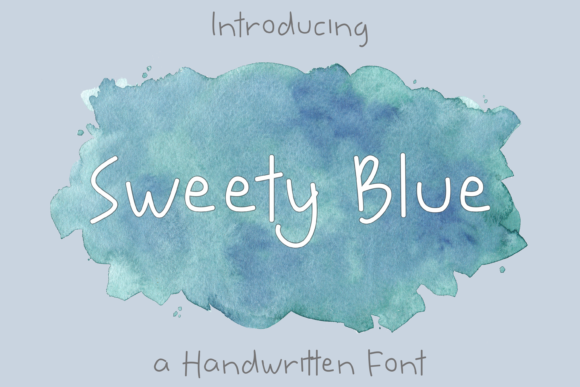 Print on Demand: Sweety Blue Script & Handwritten Font By nuraisyahamalia1729