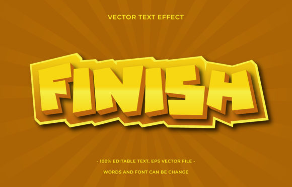 Text Effect Editable - Finish Graphic Add-ons By aalfndi