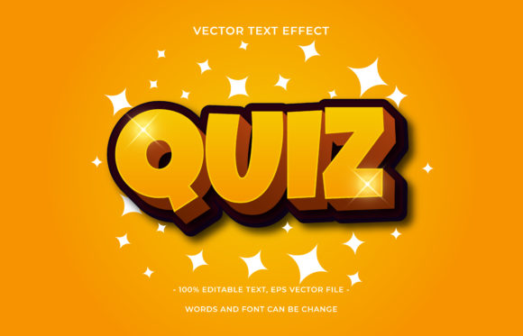 Text Effect Editable - Quiz Graphic Add-ons By aalfndi