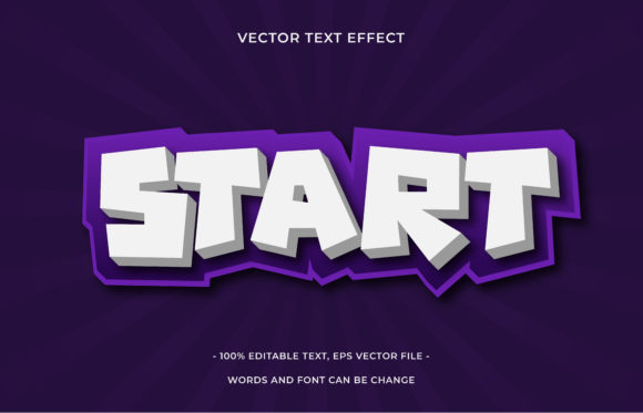 Text Effect Editable - Start Graphic Add-ons By aalfndi