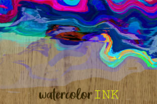 Print on Demand: Watercolor Brush Stroke Page Borders Graphic Backgrounds By Prawny 2