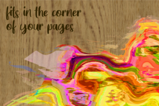 Print on Demand: Watercolor Brush Stroke Page Borders Graphic Backgrounds By Prawny 3