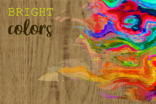 Print on Demand: Watercolor Brush Stroke Page Borders Graphic Backgrounds By Prawny 4