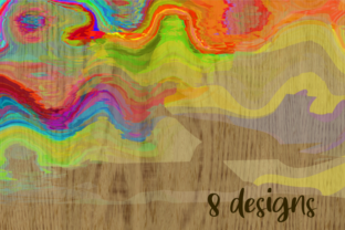 Print on Demand: Watercolor Brush Stroke Page Borders Graphic Backgrounds By Prawny 5