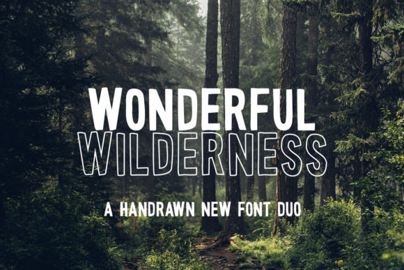 Print on Demand: Wonderful Wilderness Display Font By Salt & Pepper Designs