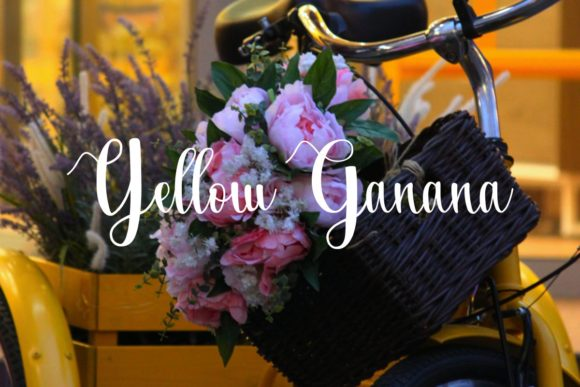 Print on Demand: Yellow Ganana Script & Handwritten Font By Pidco.art