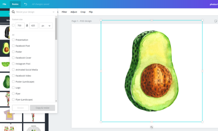 how to resize or scale your designs with Canva