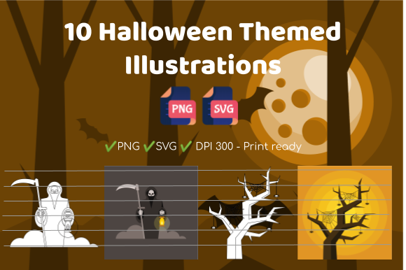 10 Halloween Themed Illustrations Graphic Illustrations By Take It And Teach