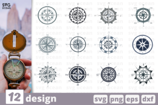 12 Compass Designs Bundle Graphic Crafts By SvgOcean