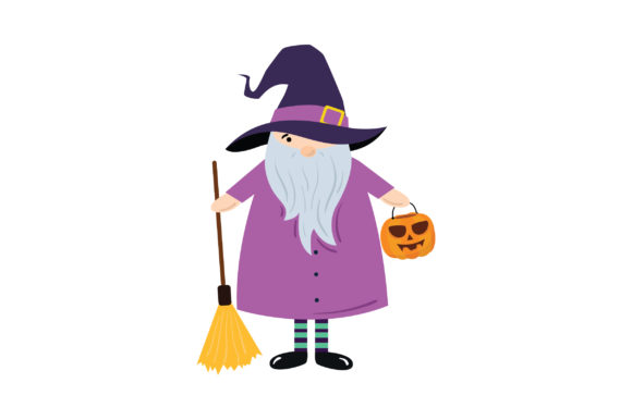 Witch Gnome Halloween Craft Cut File By Creative Fabrica Crafts