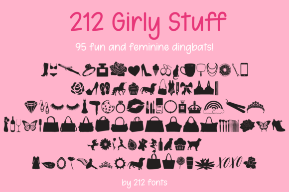 Print on Demand: 212 Girly Stuff Dingbats Font By 212 Fonts - Image 1
