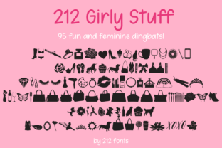 Print on Demand: 212 Girly Stuff Dingbats Font By 212 Fonts
