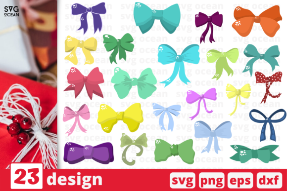 Print on Demand: 23 Bow Designs Bundle Graphic Crafts By SvgOcean
