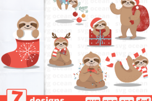 7 Christmas Designs Bundle Graphic Crafts By SvgOcean