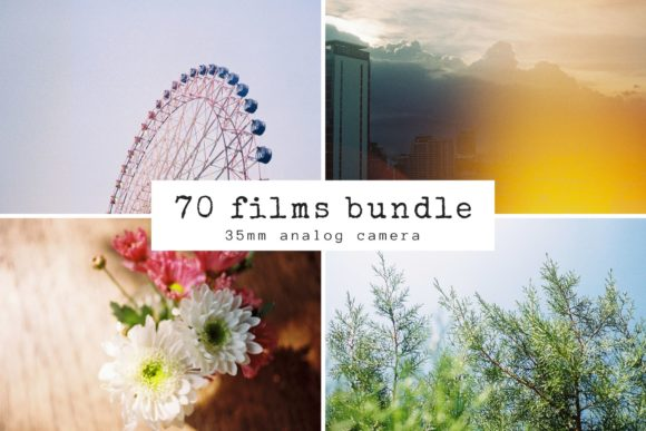 70 Films Photography Bundle Graphic Abstract By Nuchylee