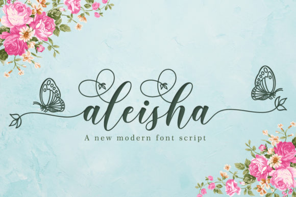 Print on Demand: Aleisha Script & Handwritten Font By Greentype