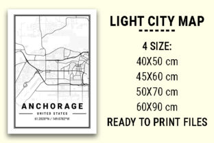 Print on Demand: Anchorage Light City Map Graphic Photos By tienstencil